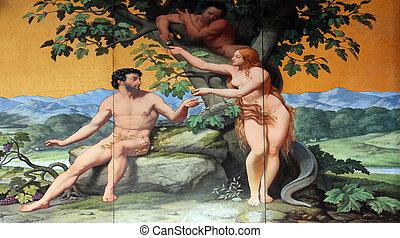 Adam und Eva.