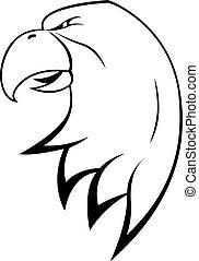 adler, kopf, symbol
