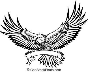Adler mit Emblem.