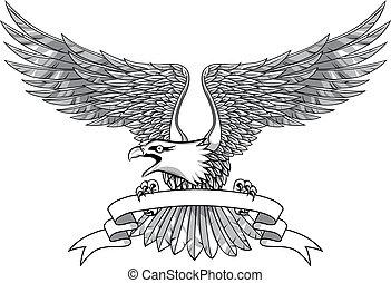 Adler mit Emblem
