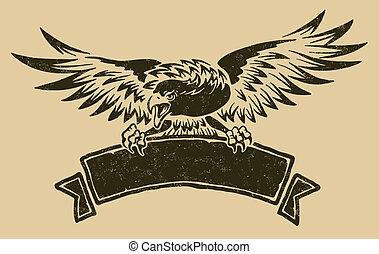 Adler mit Schleife