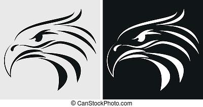 Adlermaskottchen oder Symbol.