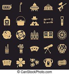 Adult Icons Set, einfache Stil