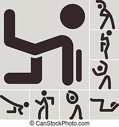 Aerobic-Icons eingestellt