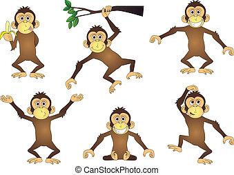 Affen Cartoon-Sammlung