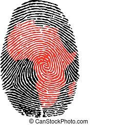 Afrika-Fingerabdrücke