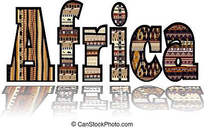 Afrika mit Stammeselementen