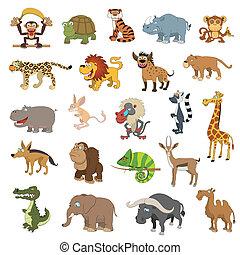 Afrika-Tiere sind aufgestellt