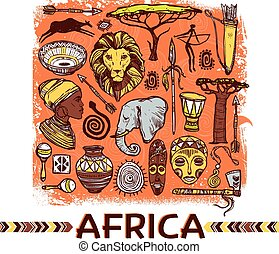 Afrika Zeichnung.