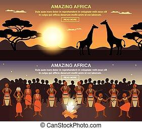 Afrikaner Banner aufgestellt.