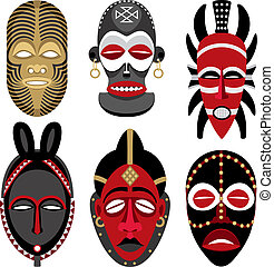 afrikanisch, 2, masken