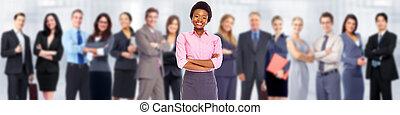 Afrikanisch-amerikanische Geschäftsfrau.