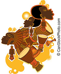 afrikanisch, leute