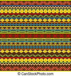 afrikanisch, muster, mehrfarbig, motive, ethnisch