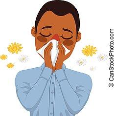 Afrikanische Amerikaner leiden an Allergien.