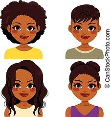 Afrikanische amerikanische Frisur.