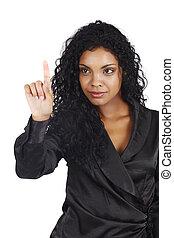 Afrikanische amerikanische Geschäftsfrau