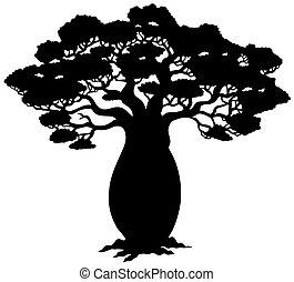 Afrikanische Baumsilhouette