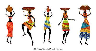 Afrikanische Frauen in traditionellem Kleid