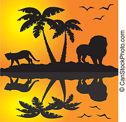 Afrikanische Landschaft.