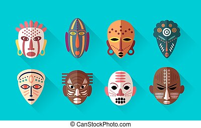 Afrikanische Maskensymbole