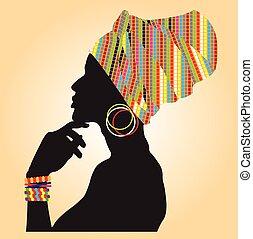 Afrikanische Mode.