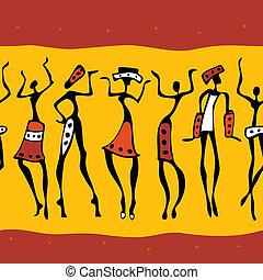 afrikanische Tänzerinnen.