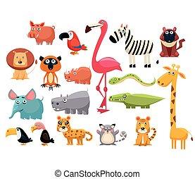 Afrikanische Tiere. Vector Illustration eingestellt