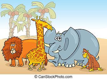 Afrikanische Tiere.
