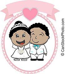 Afrikanisches amerikanisches Paar.