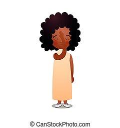 Afrikanisches Mädchen, das Gott betet, schläft
