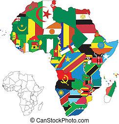 Afrikas Flaggenkarte