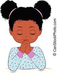 Afro-Kind betet.