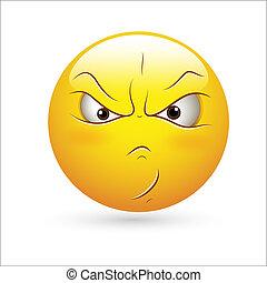 Aggressiver Smiley Icon Vektor