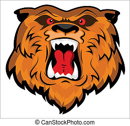 Aggressives Bärenkopf-Maskottchen