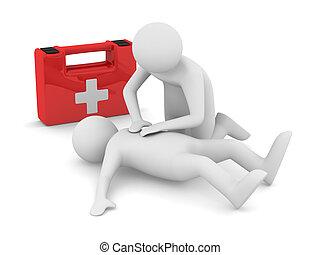 aid., bild, breath., freigestellt, künstlich, 3d, zuerst