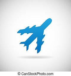 Air Travel Symbol Flugzeug Icon Design Vorlage Vektor Illustration.