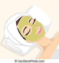Akne Behandlung Gesichtsmaske.