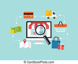 Aktienvektor e-Commerce.