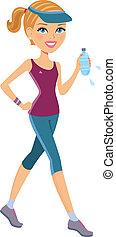 Aktive Frau trainiert