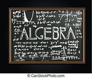 Algebra-Blackboard-Bild