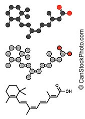 Alitretinoin (9-cis-retinosäure) Krebs und Ekzem-Drogenmolekül. Analog von Vitamin A.