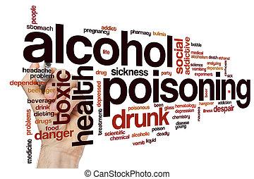 Alkohol vergiftet Wortwolke.