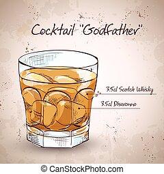 Alkoholischer Cocktail Pate.