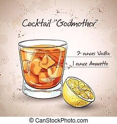 Alkoholischer Cocktail Patin.