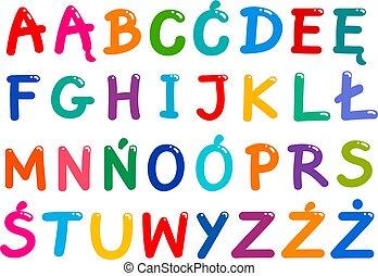 Alle polnischen Buchstaben.