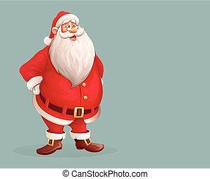 Allein stehendes Santa Claus