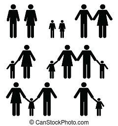 Alleinerziehende und zwei Elternfamilien