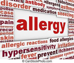 Allergie-Nachrichten-Hintergrund