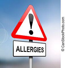 allergien, warning.